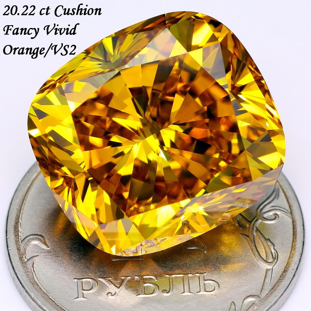 20.22 Ct (Fancy Vivid Orange, VS2)
